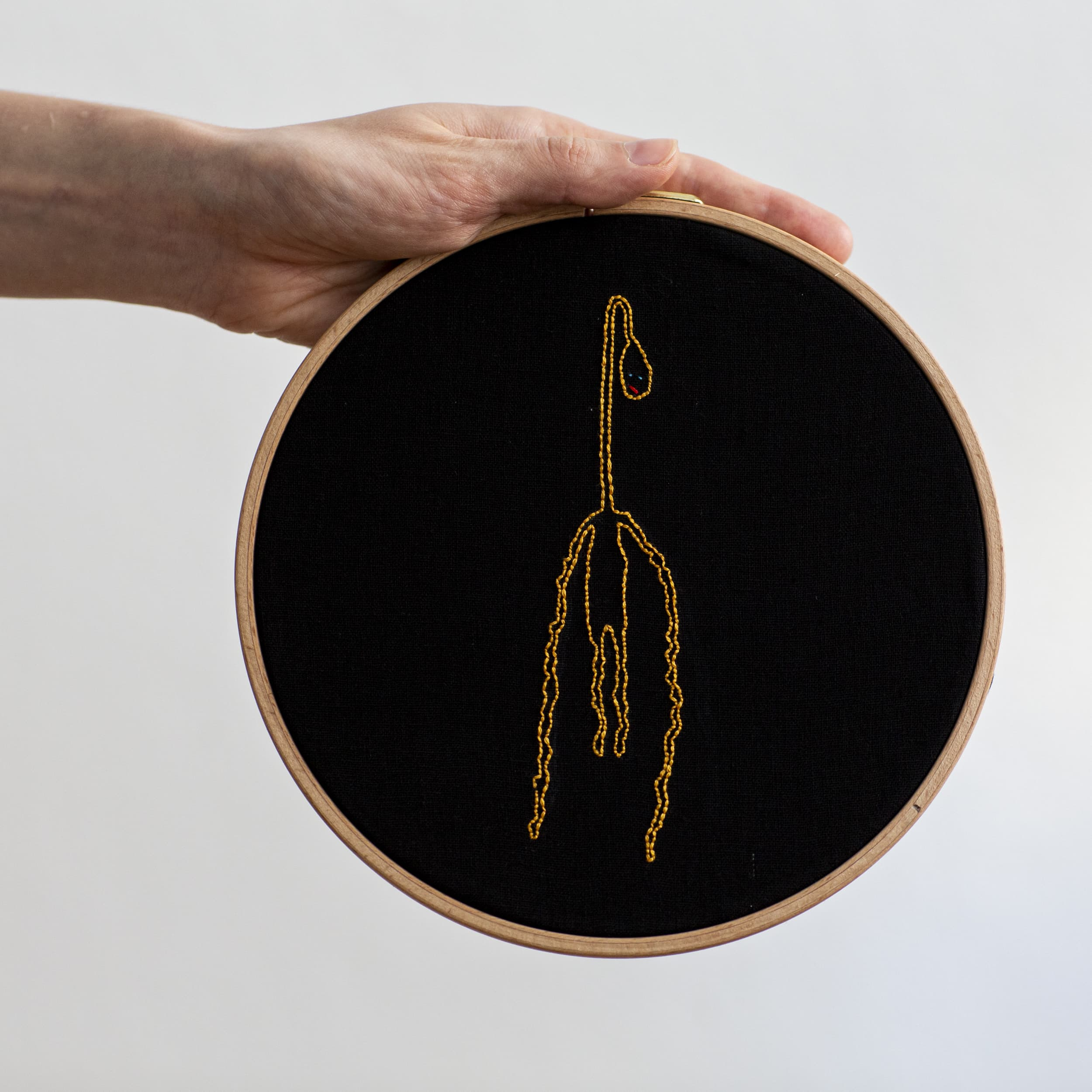 embroidery, Monika Deimling, anxiety